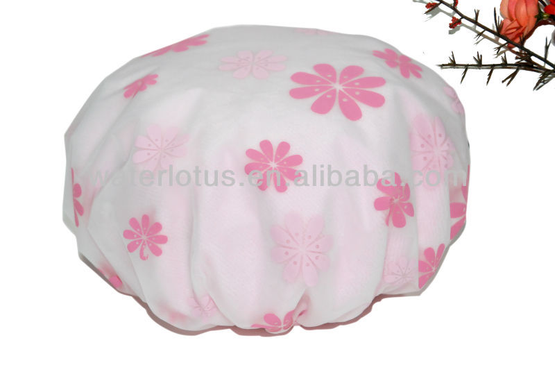 satin print and microfiber hair dry cap for promotional