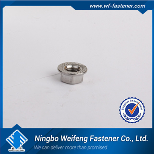 Gr8 carbon steel yellow zinc plated Hex Flange nut/din6923
