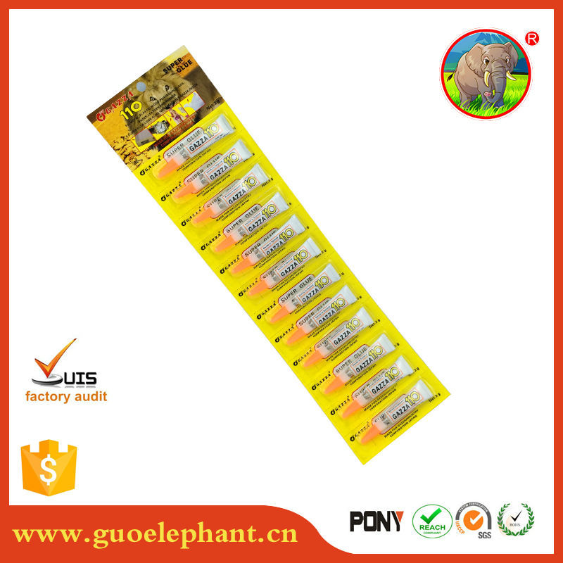 12pcs per card super glue <strong>110</strong> with aluminium tube pack