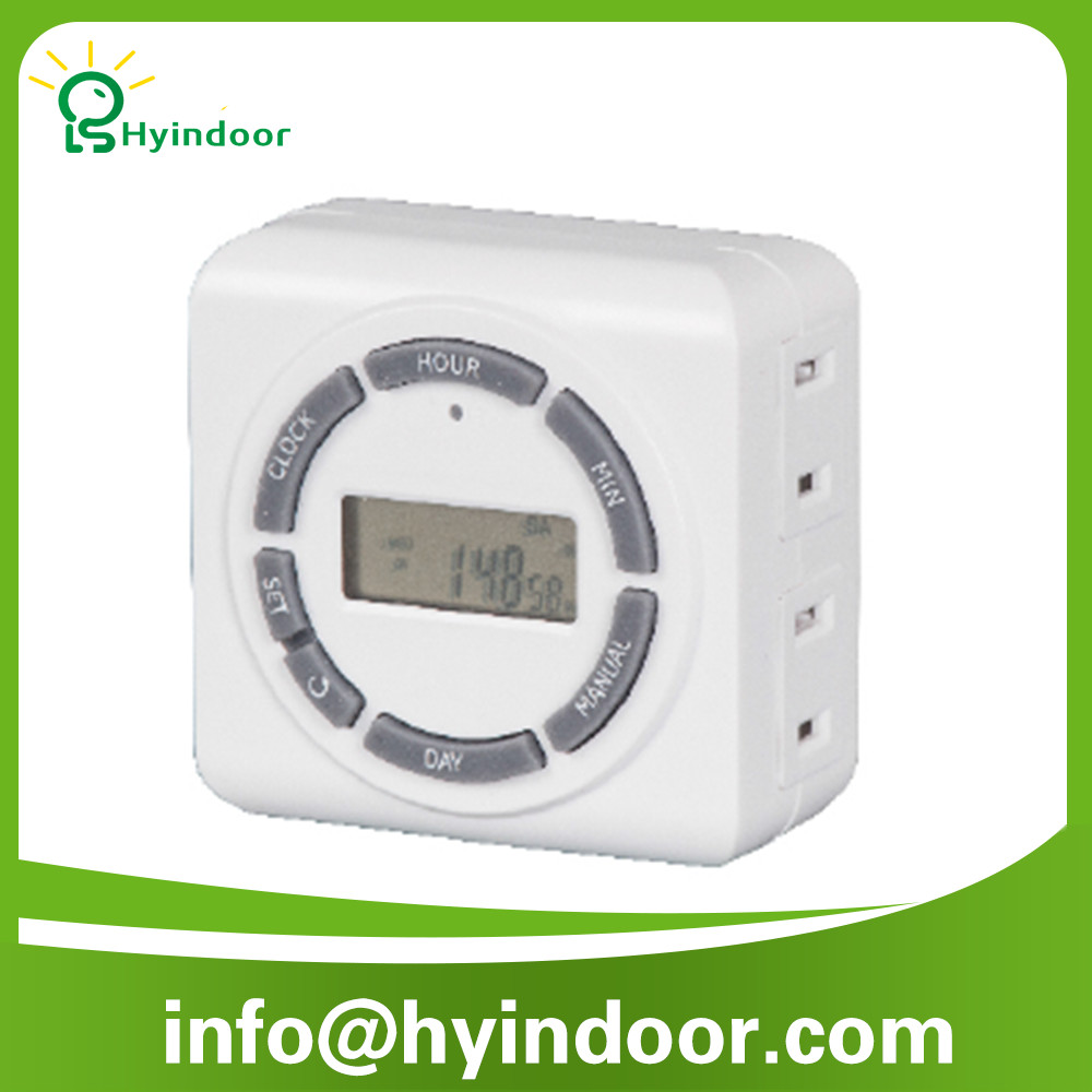 ETL Certificate United Stated 1800w 2-Outlet Weekly Digital Timer