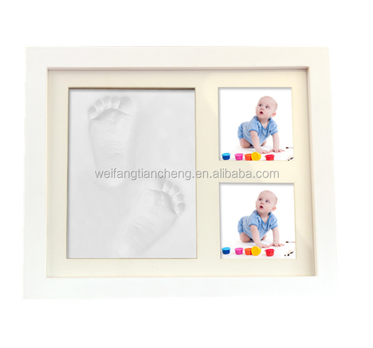 Cute Baby Photo frame DIY handprint or footprint Soft Clay Safe Inkpad non toxic easy to use for baby