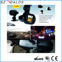 High definition video fhd 1080p 2.7 inch screen black box G-Sensor gps car dvr C600