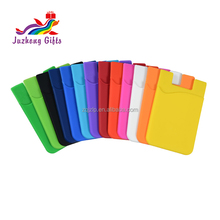 High quality heat sublimation credit card holder Silicone smart wallet for mobile phones silicone 3M case stick on