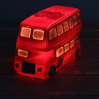 Roogo resin vintage Double-decker bus shape table lamp for bar