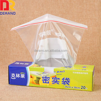 color box clear plastic with handle logo zip seal air lock bag