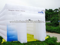 inflatable oxford cube tent for booth display