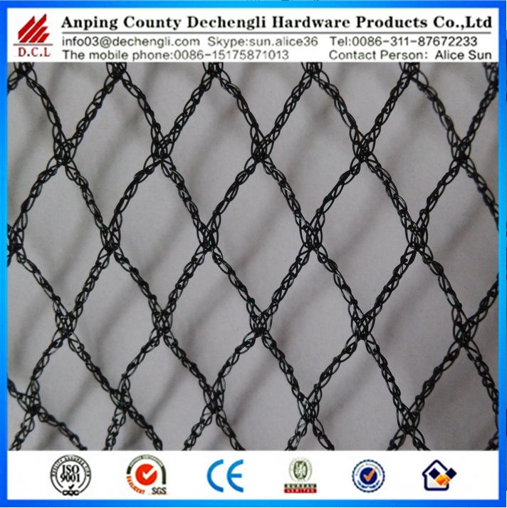 high quatity Wrap knitted bird netting in plastic net