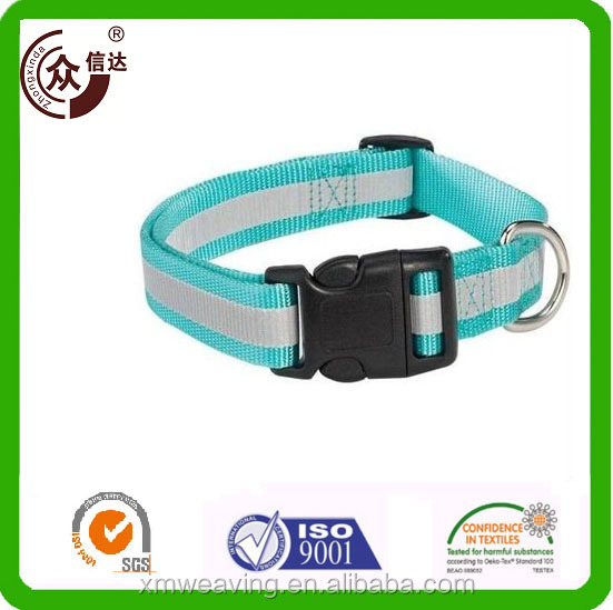 Adjustable and retractable Convenient unique reflective Polyester Polys Buckle Pet Leash Dog Leash And Collar Pet Lead Harness