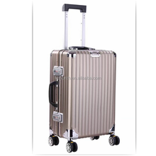 2018 High Quality Hard Shell Full Aluminum Suitcase Trolley travel luggage bags