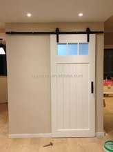 Top mount flat track soft closing sliding barn door hardware