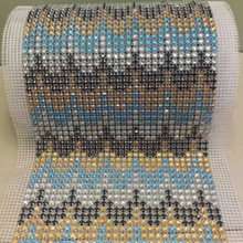 Special Mesh Trimming 5mm Resin Rhinestone mesh trim for dress