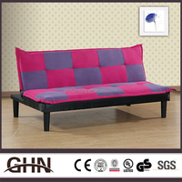 Best quality rose red and purple grid wear resistance italian antique style sofa