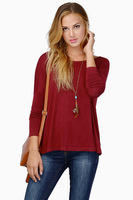 Fashion sexy long t-shirts women loose cotton blouse girls