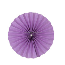 "Various size 4"" 6"" 8"" 10"" 12"" 16"" beautiful flower paper fan for wedding"