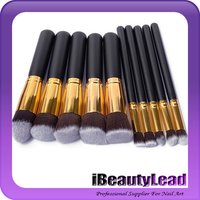 10pcs professional makeup cosmetic brushes set foundation blusher powder eyeshadow blending eyebrow makeup brushes