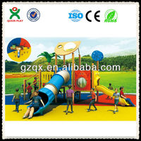Attactive multi-use wooden play sets / outdoor wooden playsets / wooden playsets for kids QX-075A