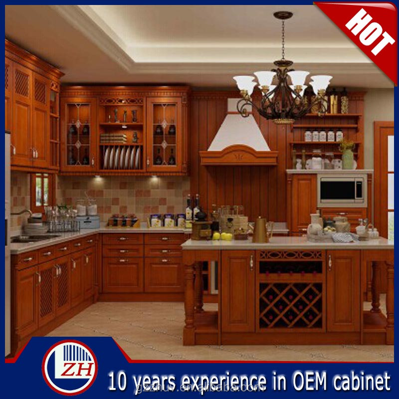 Solid wood kitchen cabinet solid wood round shape modern for Solid wood modern kitchen cabinets