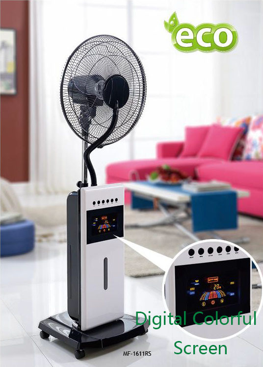fan bladeless of air condition cold water mist spray fan outdoor fan with fog