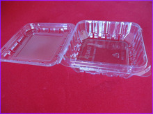Disposable clear plastic tray with cover