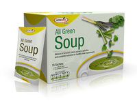 All Green Soup High Fiber Functional Instant Soup for Meal Replacement