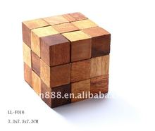 Wooden Cube Puzzle Snake in toys hobbies made in china