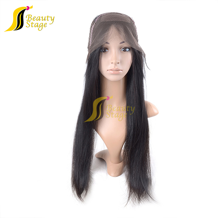 Raw unprocessed brazilian hair full lace wig 32 inches,virgin hair color wigs material grey wig
