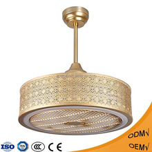 High quality 3 speed decorative ceiling fan with led light for indoor used