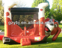 nice inflatable Pekingese castle