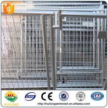 Alibaba express hot dipped galvanized powder coating large outdoor pretty unique pet housedog kennels ISO certificte