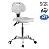High quality PU seat height adjustable laboratory stool chair R72-02BS