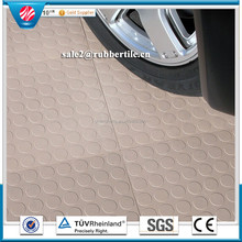 3mm durable cheap anti-slip industrial vulcanized round dot rubber sheets