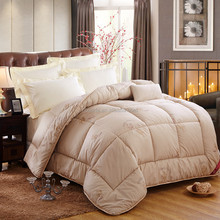 Luxury classic style camel wool quilt comforter /patchwork quilt for sale