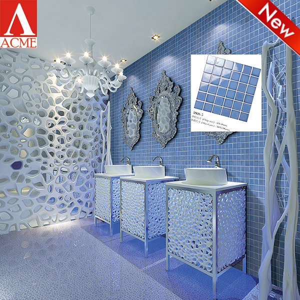 china supply blue mosaic tiles kitchen ceramic wall tile
