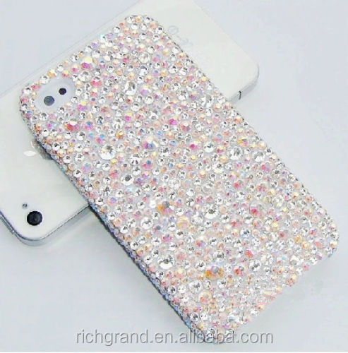 For Various Mobile Phones Luxury Bling Chic AB Rhinestones Crystals Diamond Case