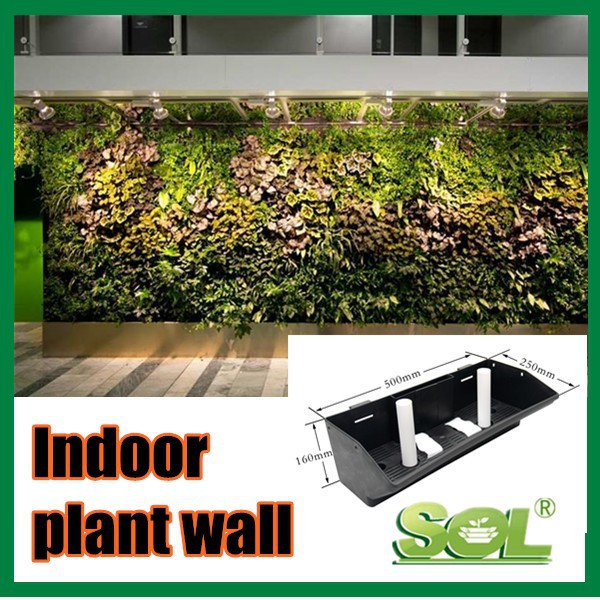 Mobile Plant Wall Hydroponics Stackable Wall Mounted
