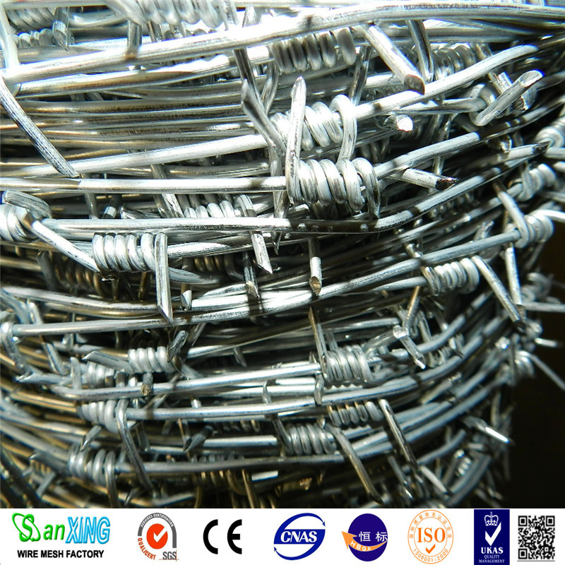 Factory price PVC coated galvanized / stainless steel barbed wire