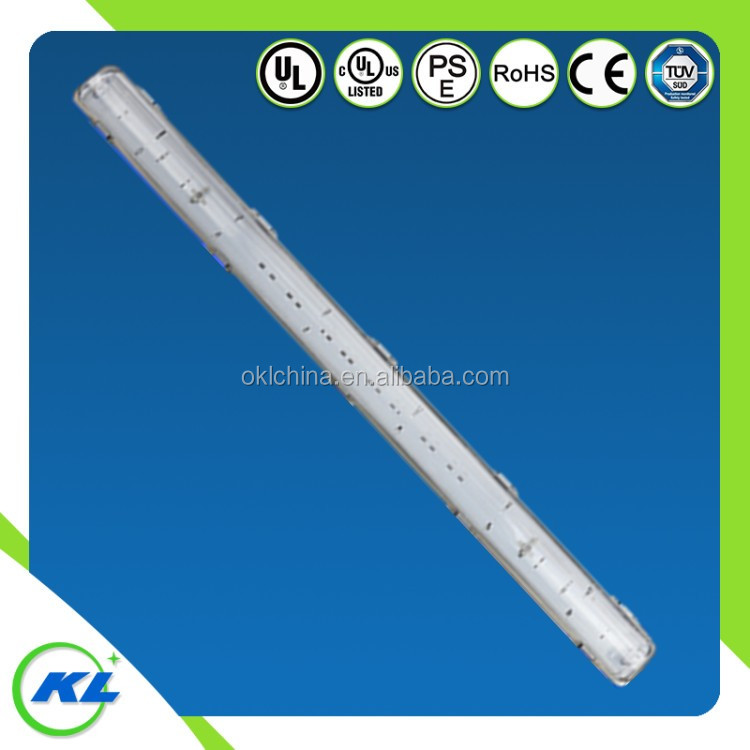 ip65 outdoor led light sensor&emergency 60w durable tri-proof led tube light 12v led tri-proof fixture
