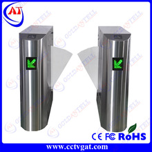 Access control turnstile /swipe RFID cards electronic flap turnstile /flap barrier gate