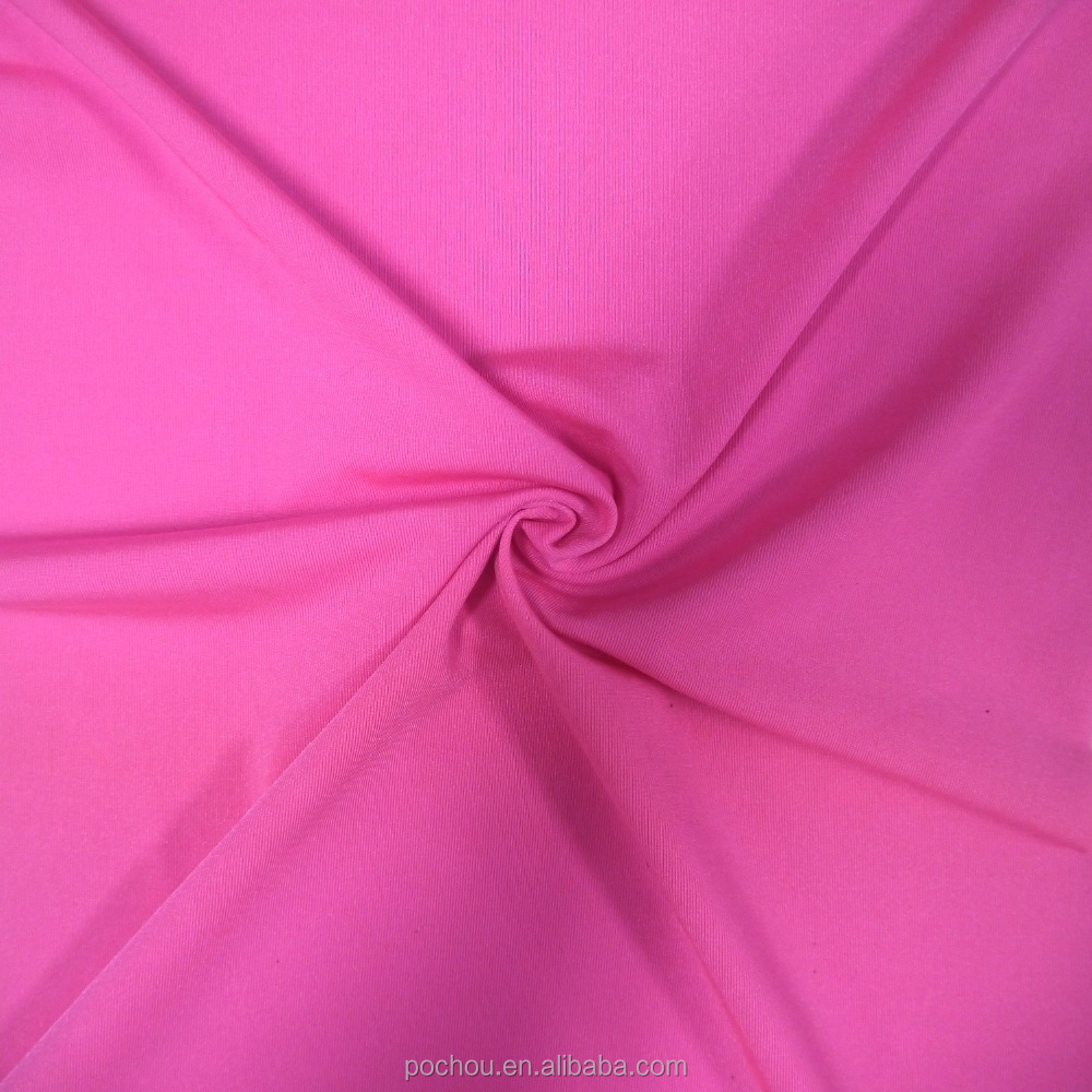 Warp Knitted Glossy Nylon Spandex Lycra Fabric for Garment and Sportswear