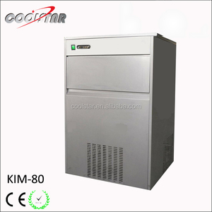 KIM-80 Stainless steel 80kg high capacity bullet type ice maker cube ice machine