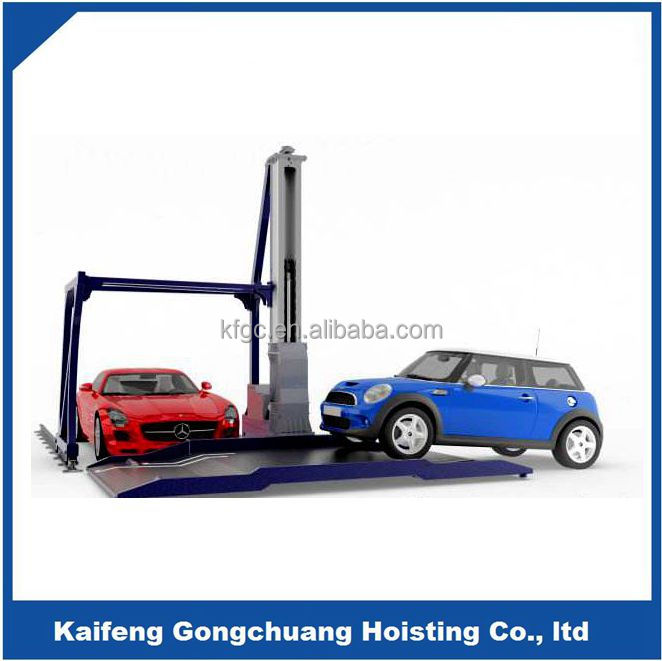Non avoiding independent rotating car storage parking system