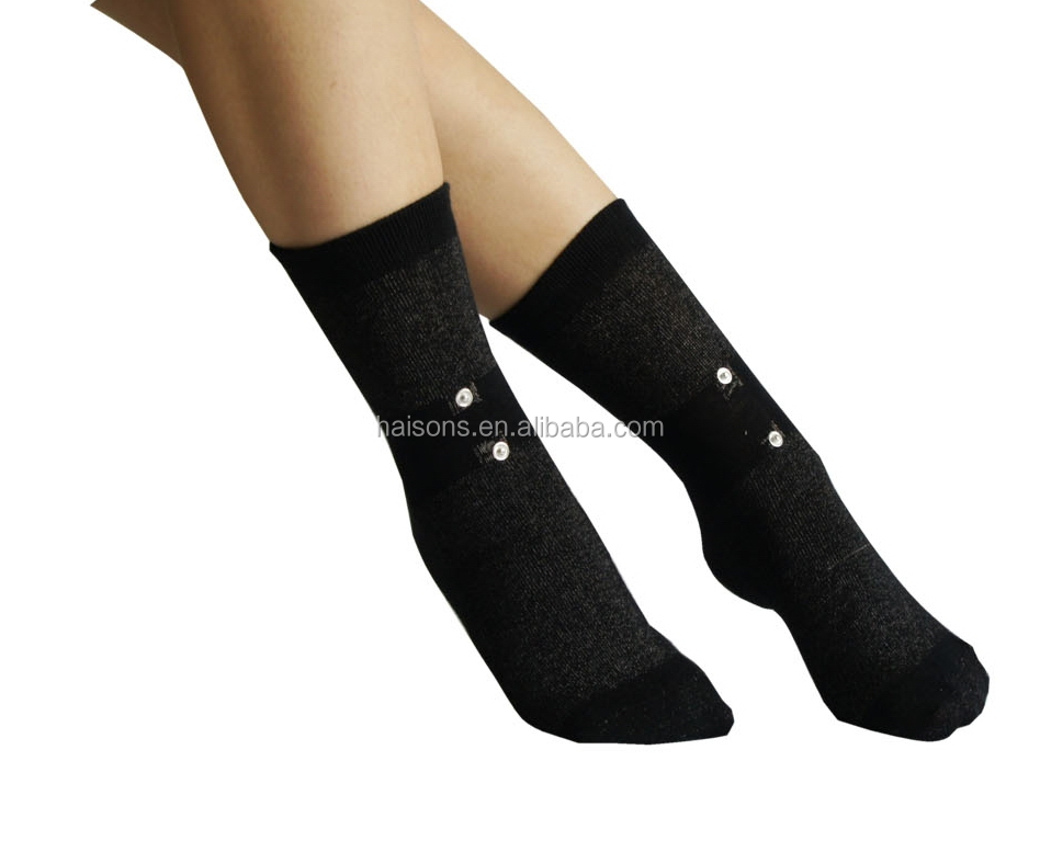 Conductive socks with bluetooth tens massager