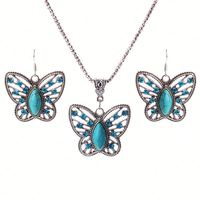 2016 New Fashion cheap fly butterfly wing necklace jewelry set