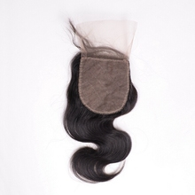 7A Closure Brazilian Body Wave Lace Closure Bleached Knots,4X4 Closure with Baby Hair Free Part Middle Part 3 Way