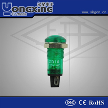 Hot sale 10mm Euro Type Mushroom head led indicator light 120v