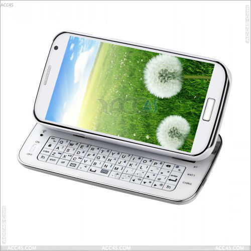 2013 Hot Selling Sliding out Bluetooth detachable Keyboard case Cover For Samsung Galaxy S4 I9500--SAM9500BLUEKB002