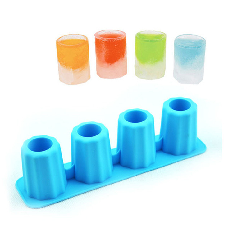 New Design High Quality ICE TRAY Cup Silicone Ice Cube tray Popsicle Mold Ice Wine Glass