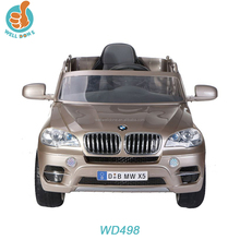 Licensed BMW X5 car for kids ride on 12 volt, with double door open, battery car WD498