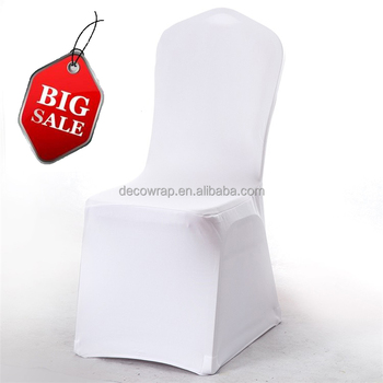 BIG SALE white cheap universal spandex lycra stretch elastic chair cover for hotel wedding banquet party