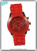 Unisex Modish Geneva Jelly Gel Silicone Rubber Band Quartz High Quality Silicone Watch at Low Price